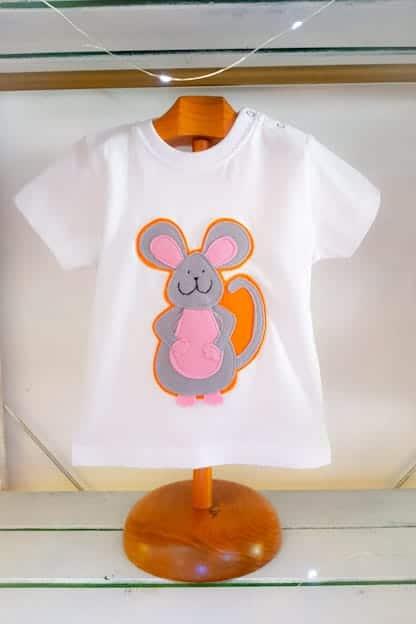 camiseta infantil Raton