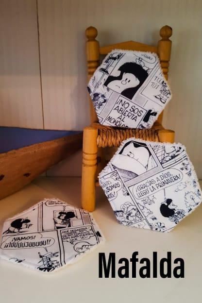Discos desmaquillantes reutilizables Mafalda