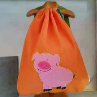 mochila infantil Cerdito naranja