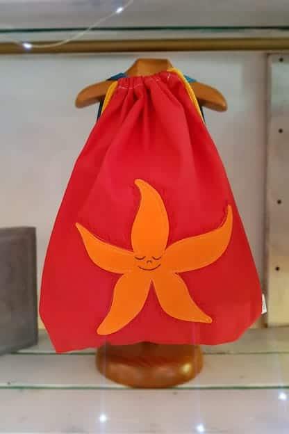 mochila infantil Estrella de mar rojo