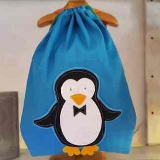 mochila infantil Pingüino azul