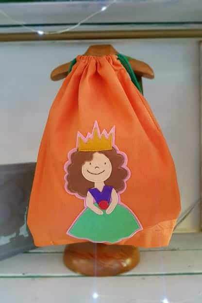 mochila infantil Princesa naranja