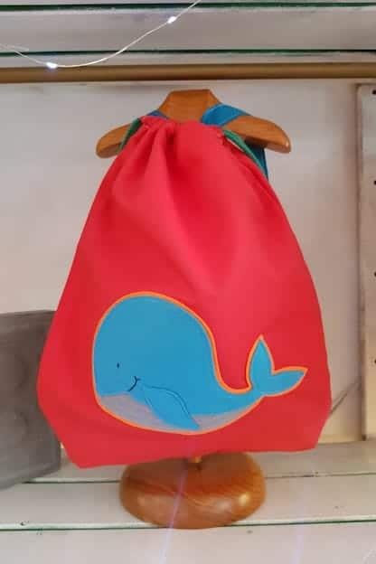 mochila infantil Ballena rojo