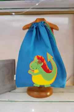 mochila infantil Drac azul