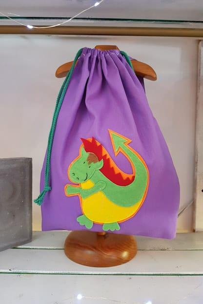 mochila infantil Drac lila