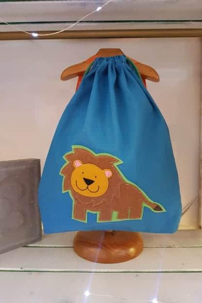 mochila infantil leo azul