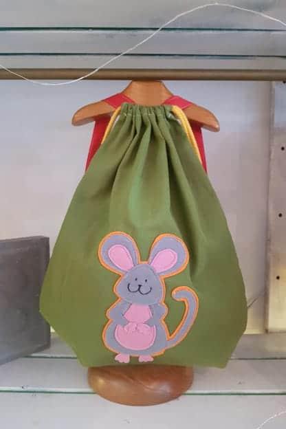 mochila infantil raton verde