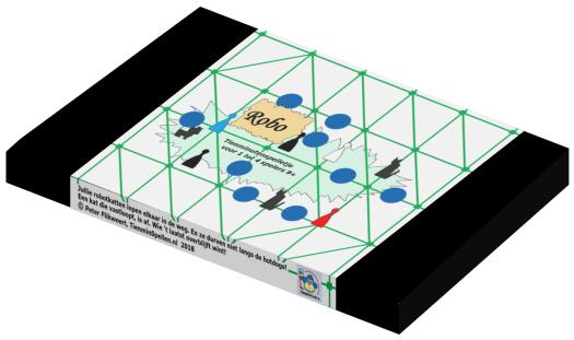 De verpakking van bordspel Robo