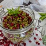 Mungobohnen-Granatapfel-Salat