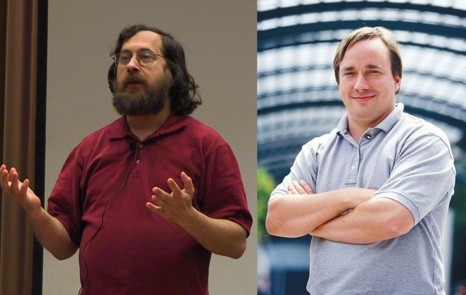 Richard Stallman y Linus Torvalds