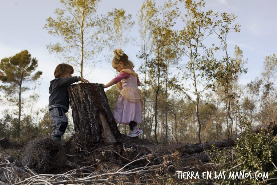 beneficios naturaleza - juego niños niñas
