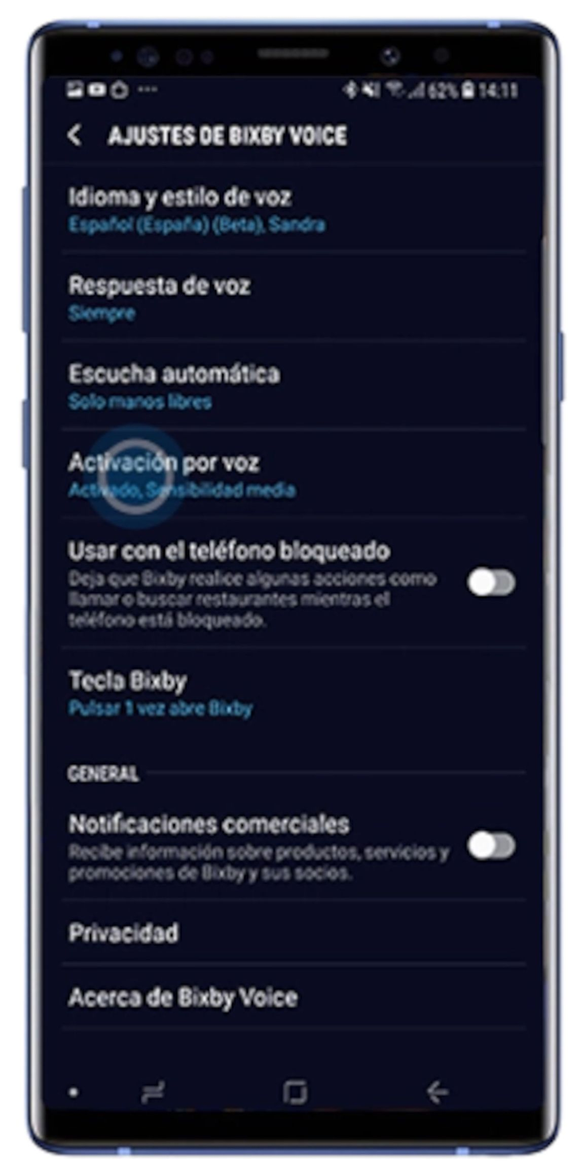 Sam and how to activate the Samsung voice assistant