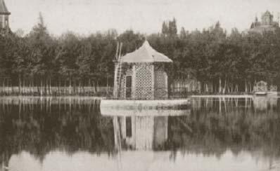 Postal de época. Lago de Puigcerdá.
