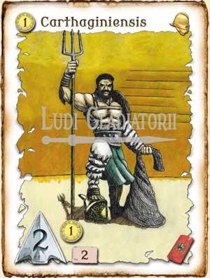 Carta del juego Ludi Gladiatorii - Juegos de Mesa