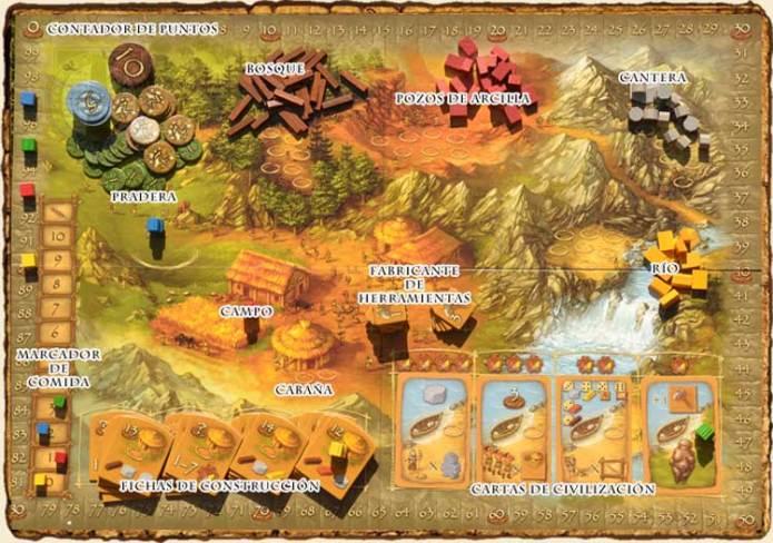 Tablero Stone Age - Juegos de Mesa