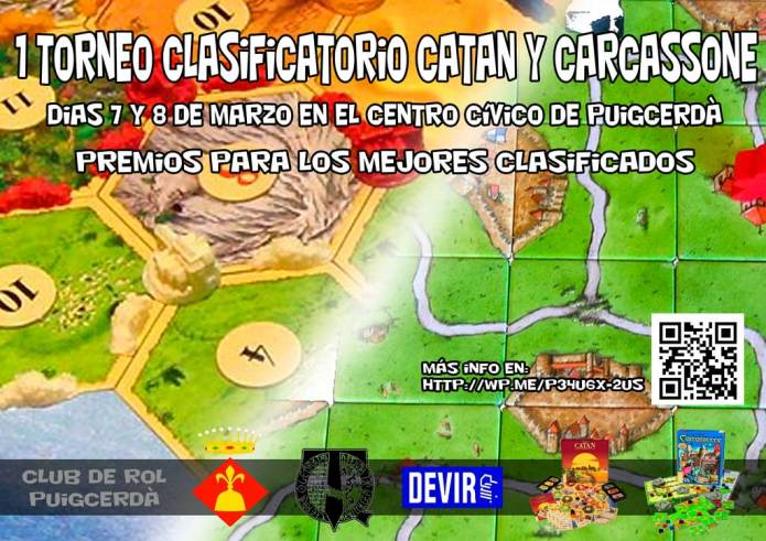 Torneo Clasificatorio Catan y Carcassonne 2015
