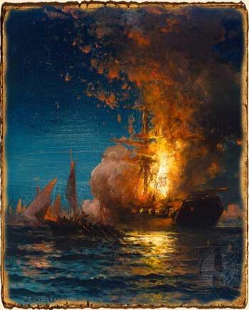 Relatos de Fantasía - Barco en llamas