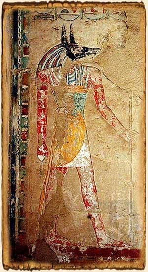 Mitología Egipcia - Anubis en Bahari