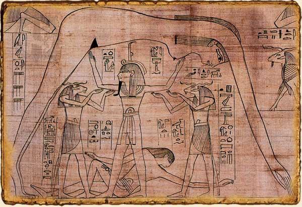 Mitología egipcia - Nut y Duat, representación del mundo