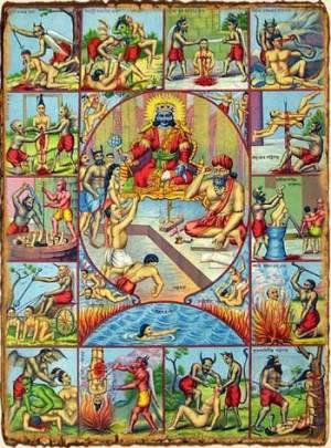 Mitología hindú- Naraka el inframundo