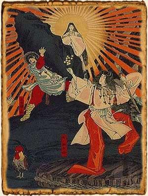 Mitología Japonesa - Amaterasu sale de la cueva