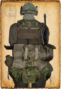 La mochila lista para la acción.