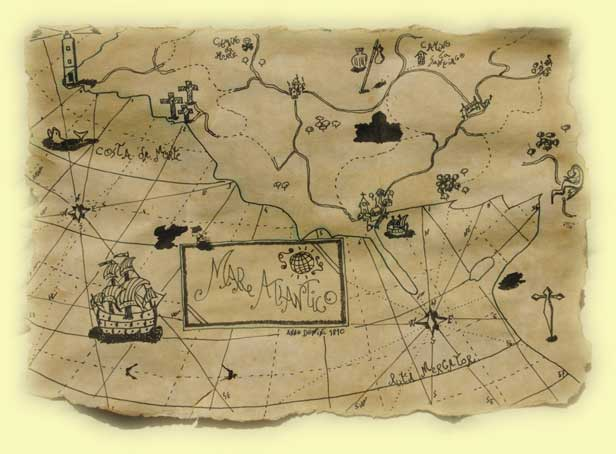 Mapa del Tesoro del H.M.S. Serpent