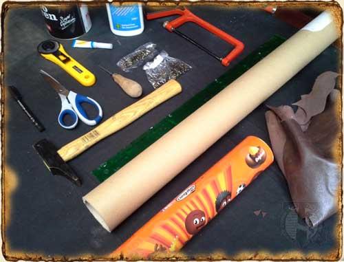 Herramientas y materials para construir un portamapas - DIY
