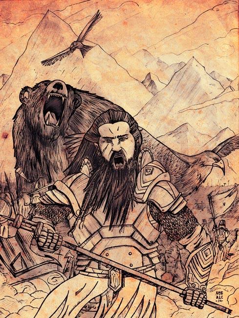 La batalla de los 5 ejércitos - Ilustraciones de Fantasía