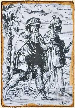 Peregrinos con sombrero