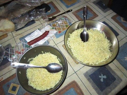 Los famosos Noodles, están ricos aunque no lo parezca.