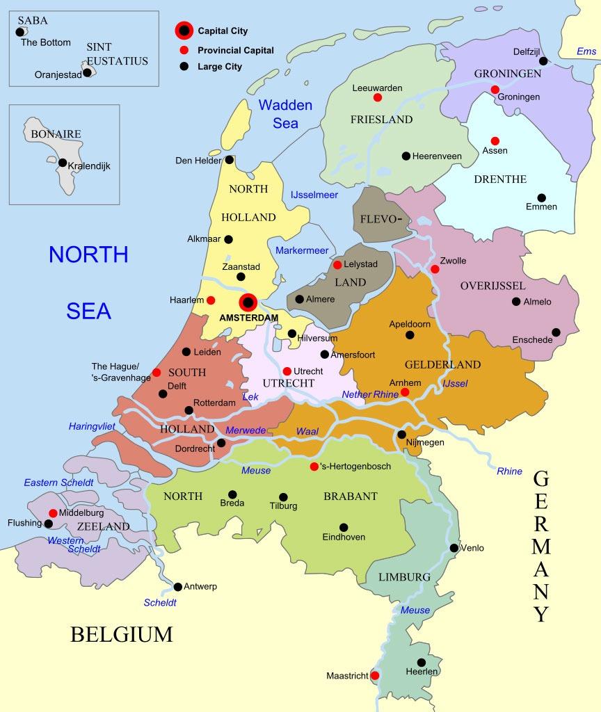 belgica y holanda mapa