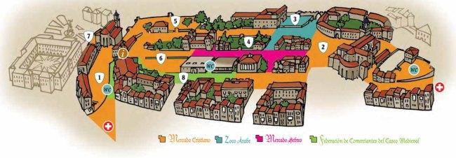 mapa mercado medieval de vitoria-gasteiz