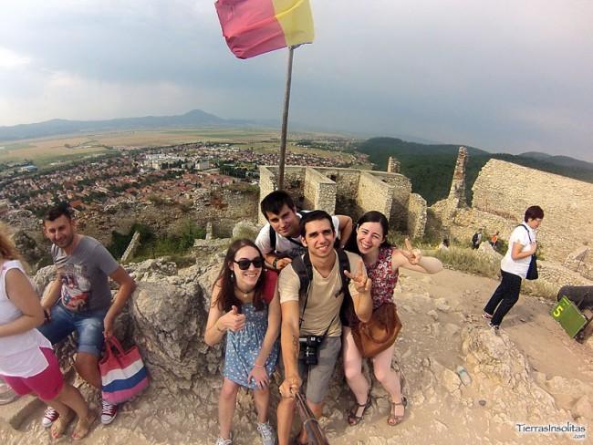 mis compañeros de viaje en rumanía.