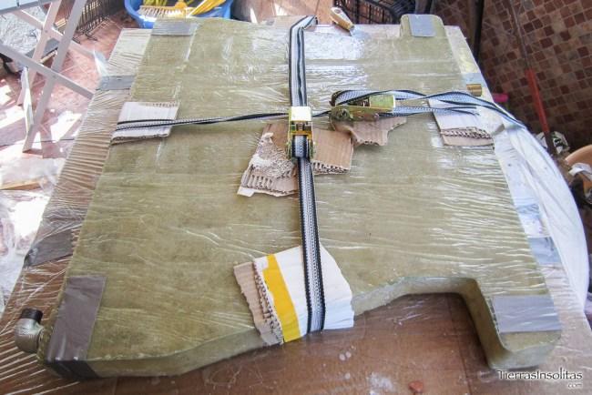 pegado tapa depósito grises fibra vidrio