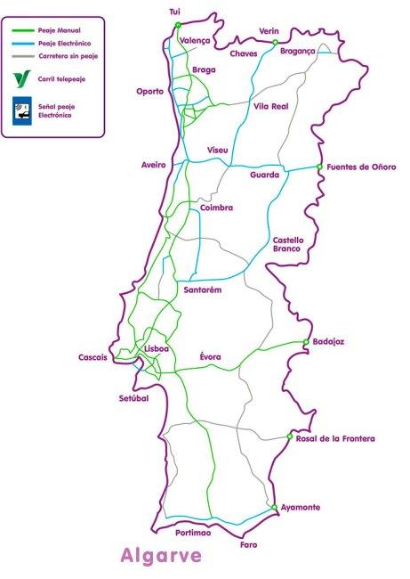 mapa carreteas de portugal