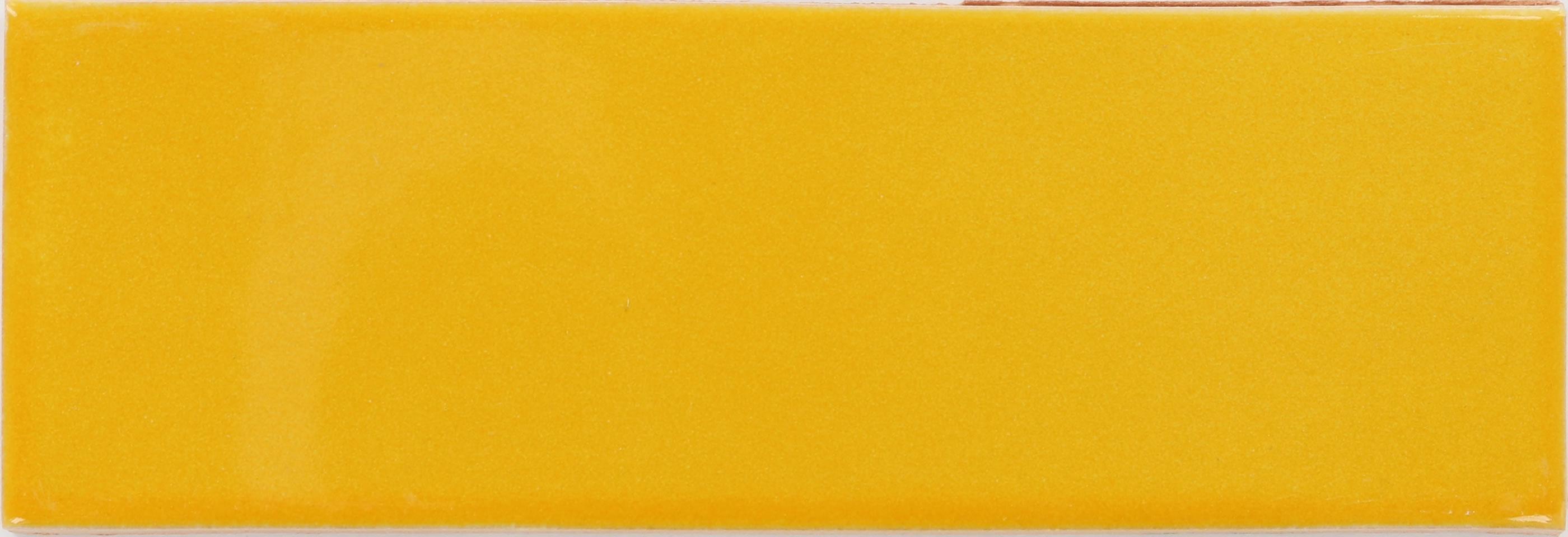 tangerine yellow talavera mexican subway tile