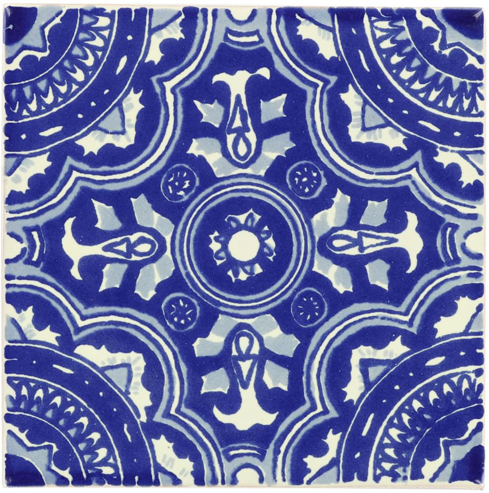 royal blue white dolcer ceramic tile