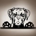 Boxer Hund 3d Wandbild Aus Holz Mit Led Leuchte Tierschmuck Geschenke Fur Hunde Und Katzenfreunde