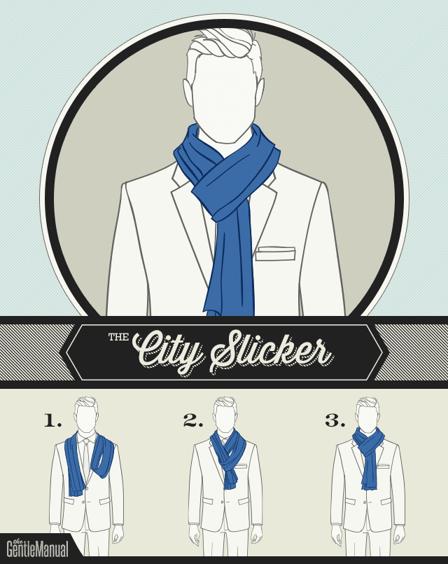 how to tie a scarf - The City Slicker scarf knot
