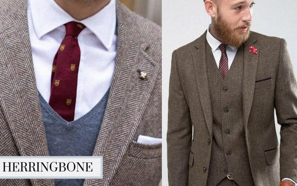 winter suit herringbone suit