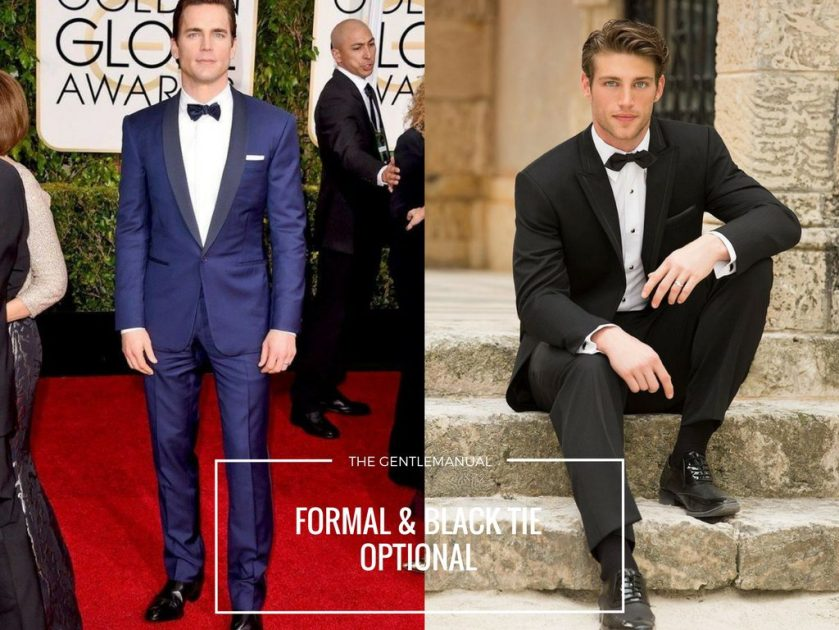 Formal Or Black Tie Optional Wedding Guest Men Look