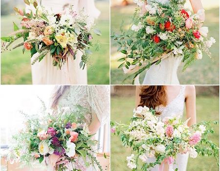 Hochzeitstrend 4: Locker gebundene Brautsträuße