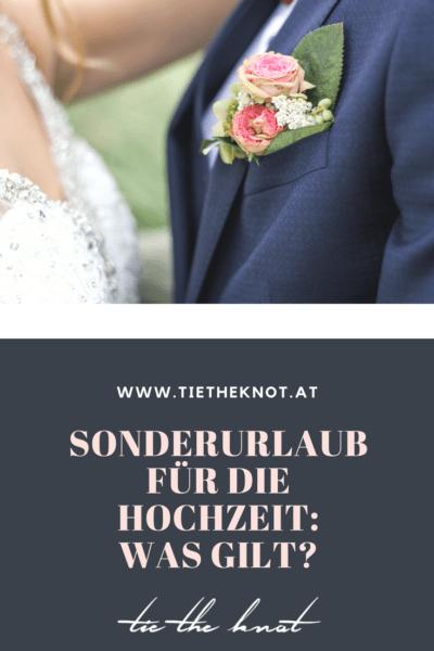 Sonderurlaub für die Hochzeit: Wie viele Tage bekomme ich frei?