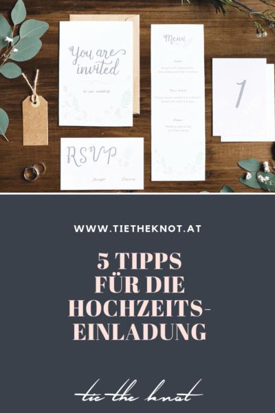 5 Tipps für die Hochzeitseinladung