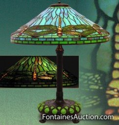 Tiffany Studios Dragonfly Table Lamp Tiffany Antique Lamps and Lighting