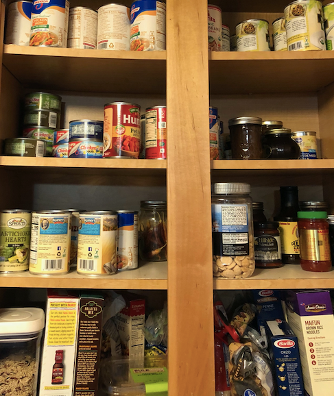 picture of a stocked pantry