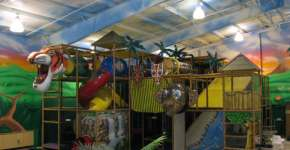 Jungle Playland + 1st Birthday party = Lots of fun