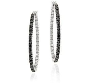 Sterling Silver Black Diamond Accent