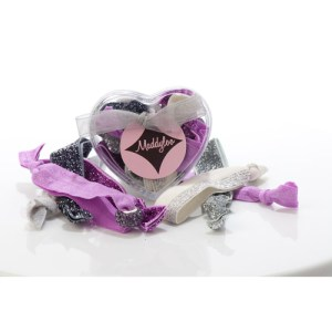 Mini Heart Box - Silver Orchid